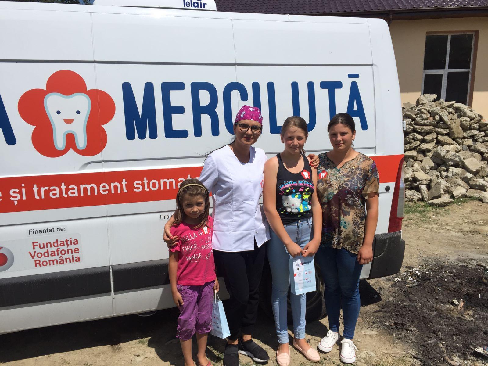 Zana Merciluta - cabinet stomatologic mobil care acorda gratuit profilaxie si tratament copiilor cazuri umanitare
