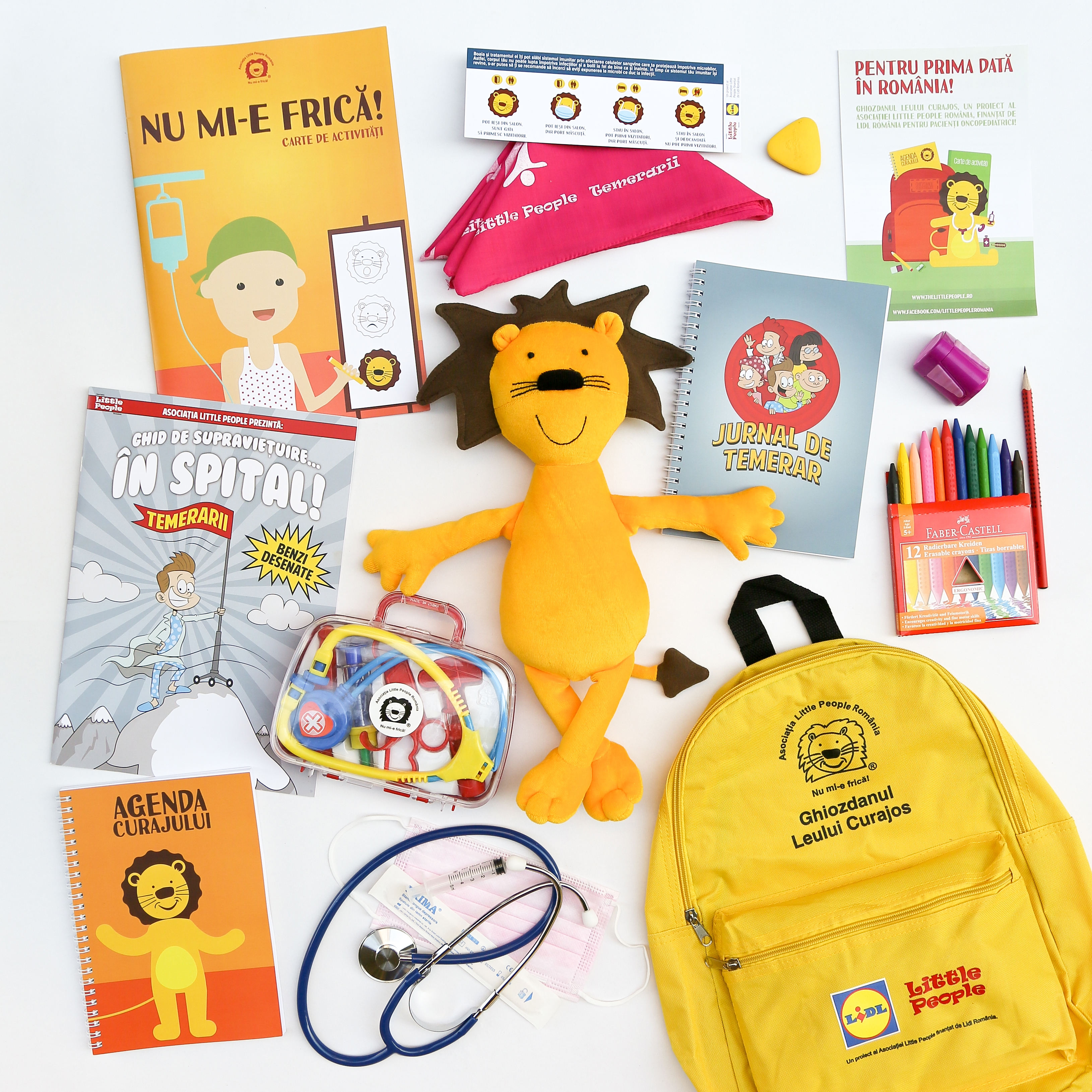 Primul Kit terapeutic de internare pentru copiii bolnavi de cancer - Leul Curajos