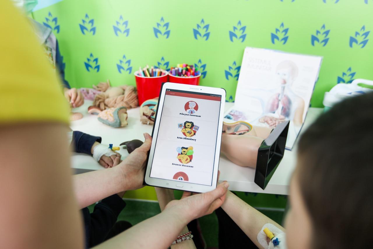 Aplicatia mobila Leul Curajos - Educatie pentru sanatatea copiilor bolnavi de cancer