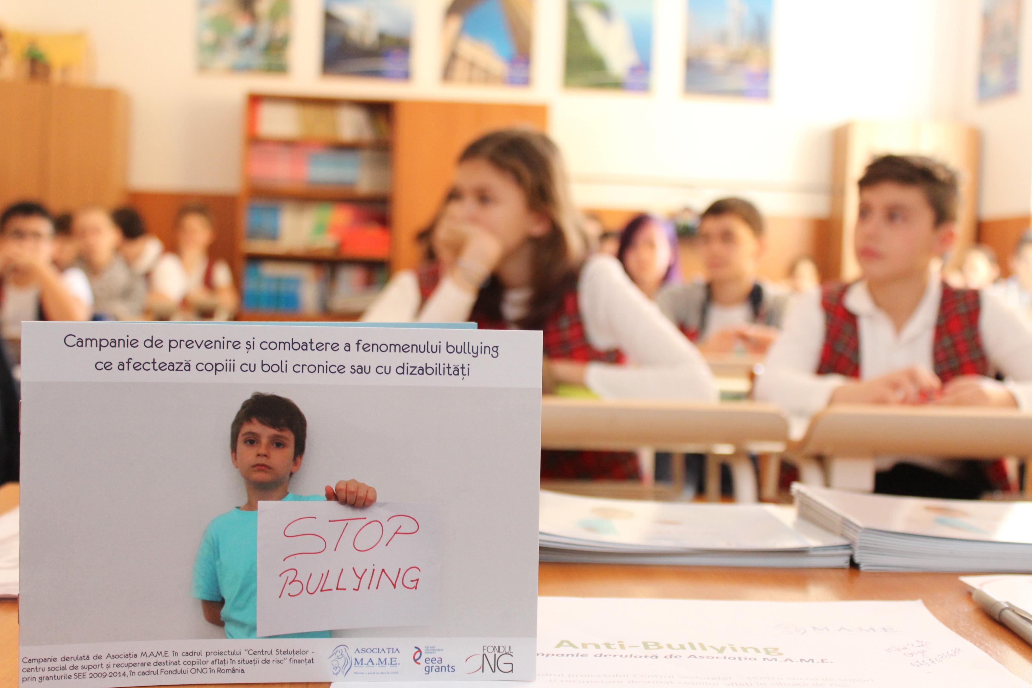 Campania de prevenire si combatere a fenomenului de tip bullying ce afecteaza copiii cu boli cornice sau cu dizabilitati