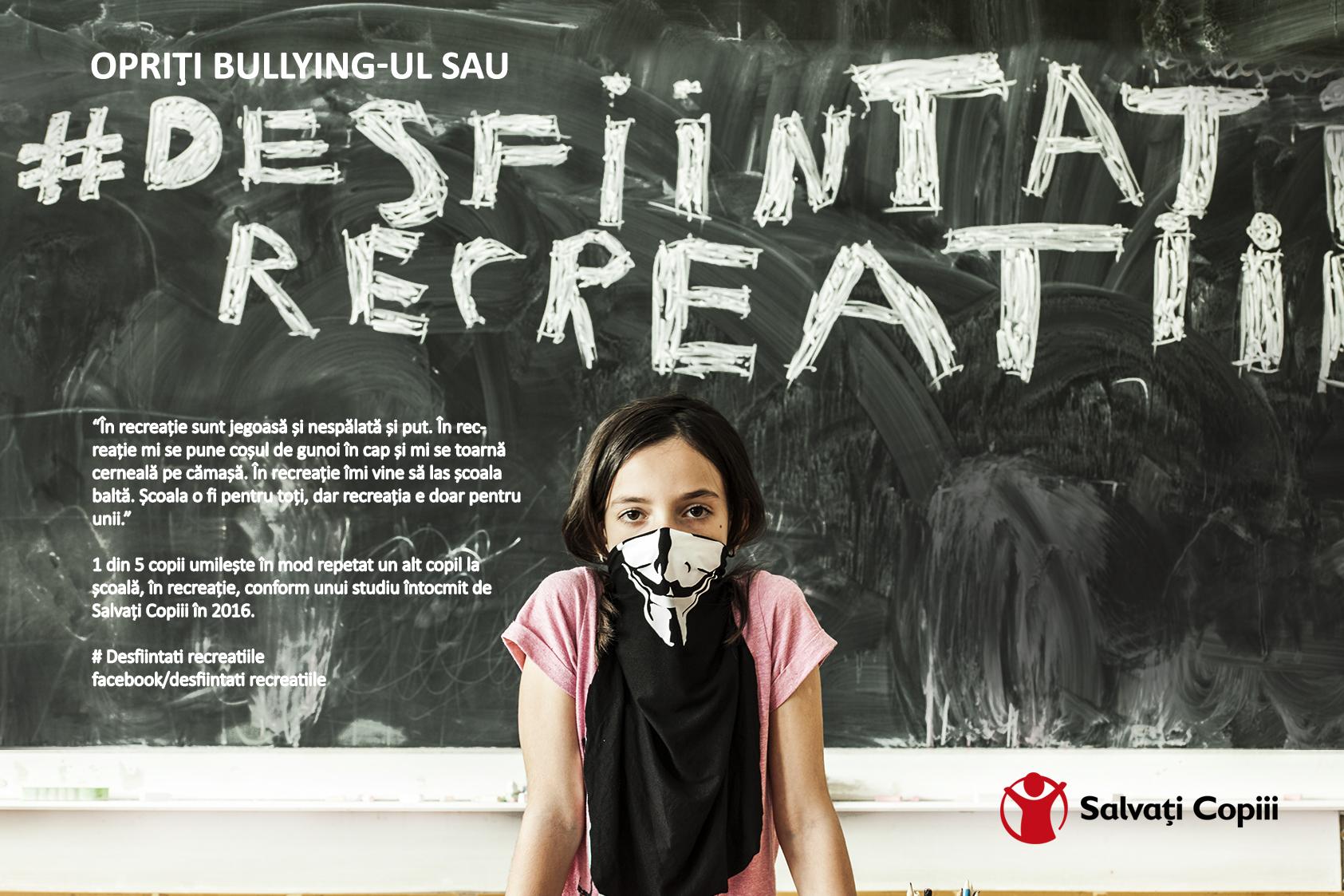 Opriti bullying-ul sau desfiintati recreatiile