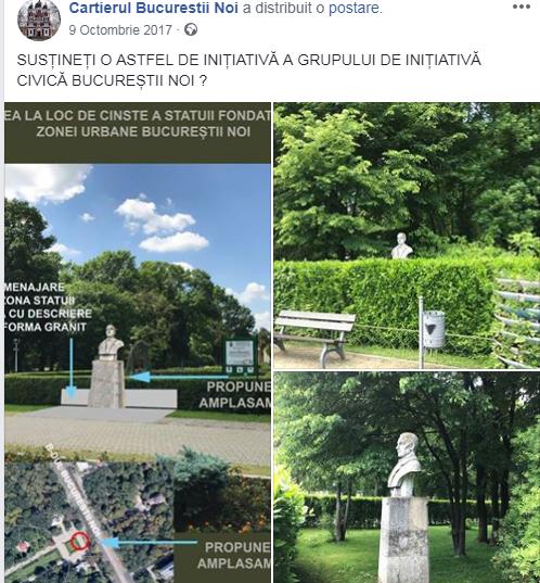 Vecinii, impreuna, muta pietre in parcul Bazilescu