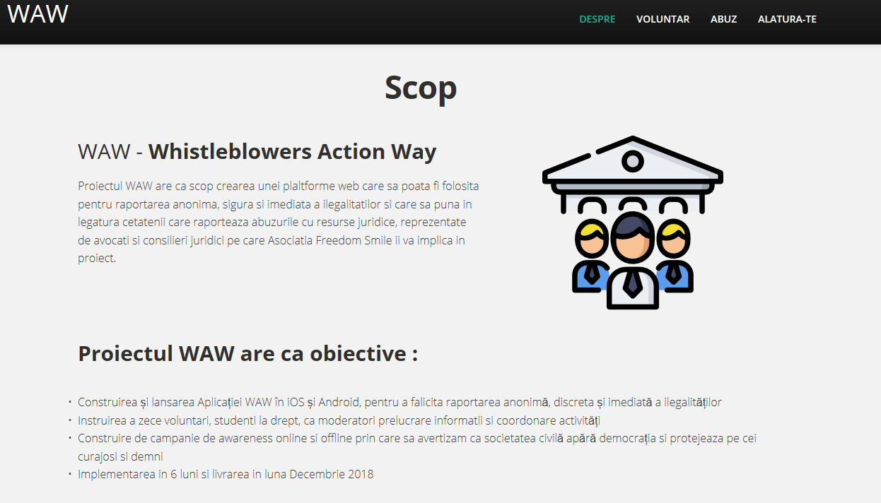 WAW Whistleblower Action Way www.avertizez.ro