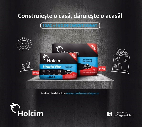 """Construiește o casă, dăruiește o acasă!"" – Holcim si Hope and Homes for Children"