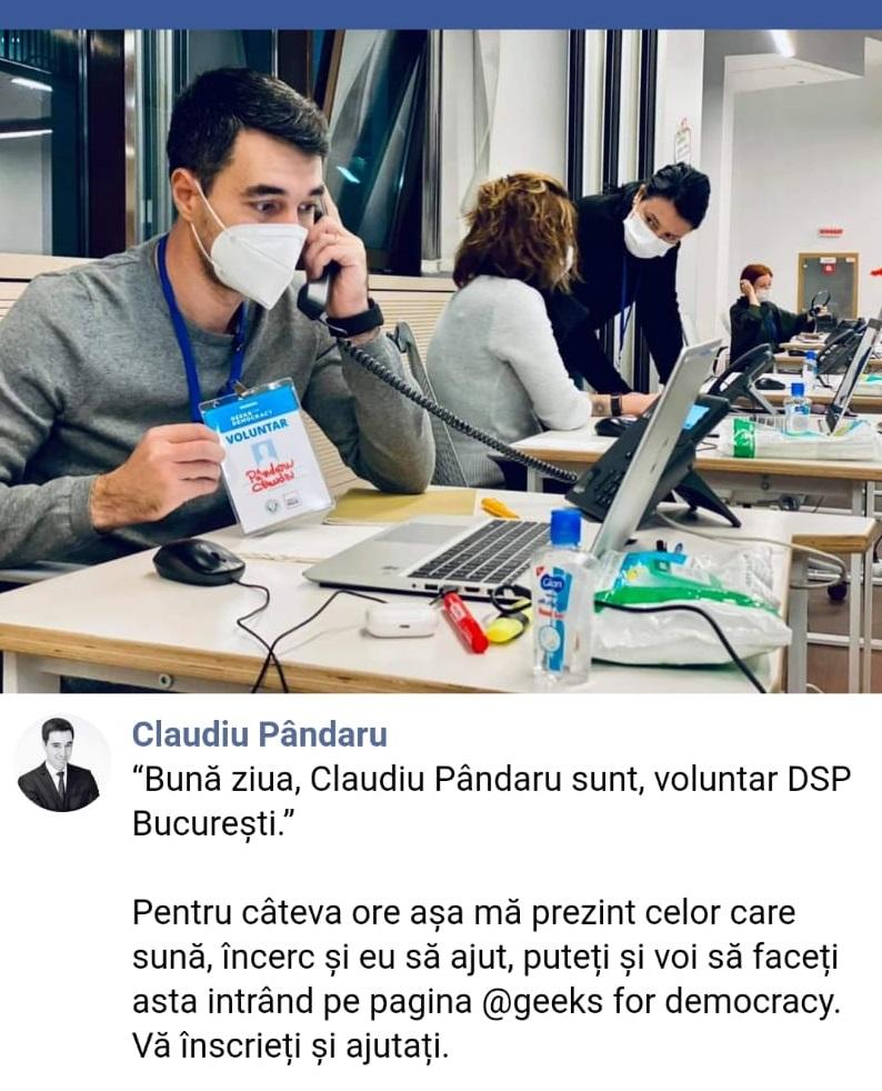 Call-center Covid19 cu voluntari la DSP Bucuresti