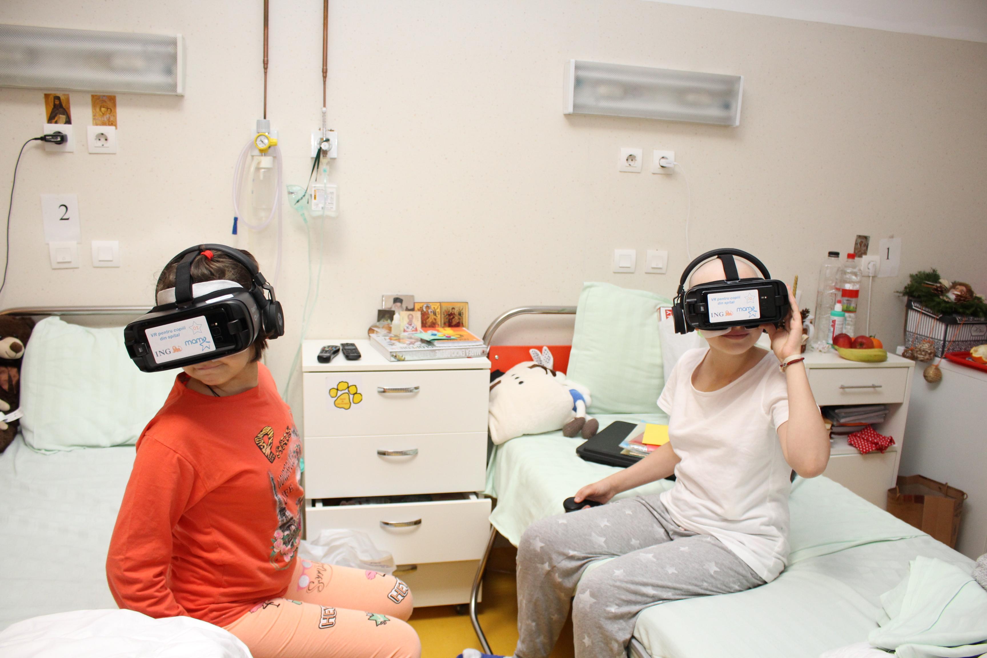 VR pentru copiii din SPITAL