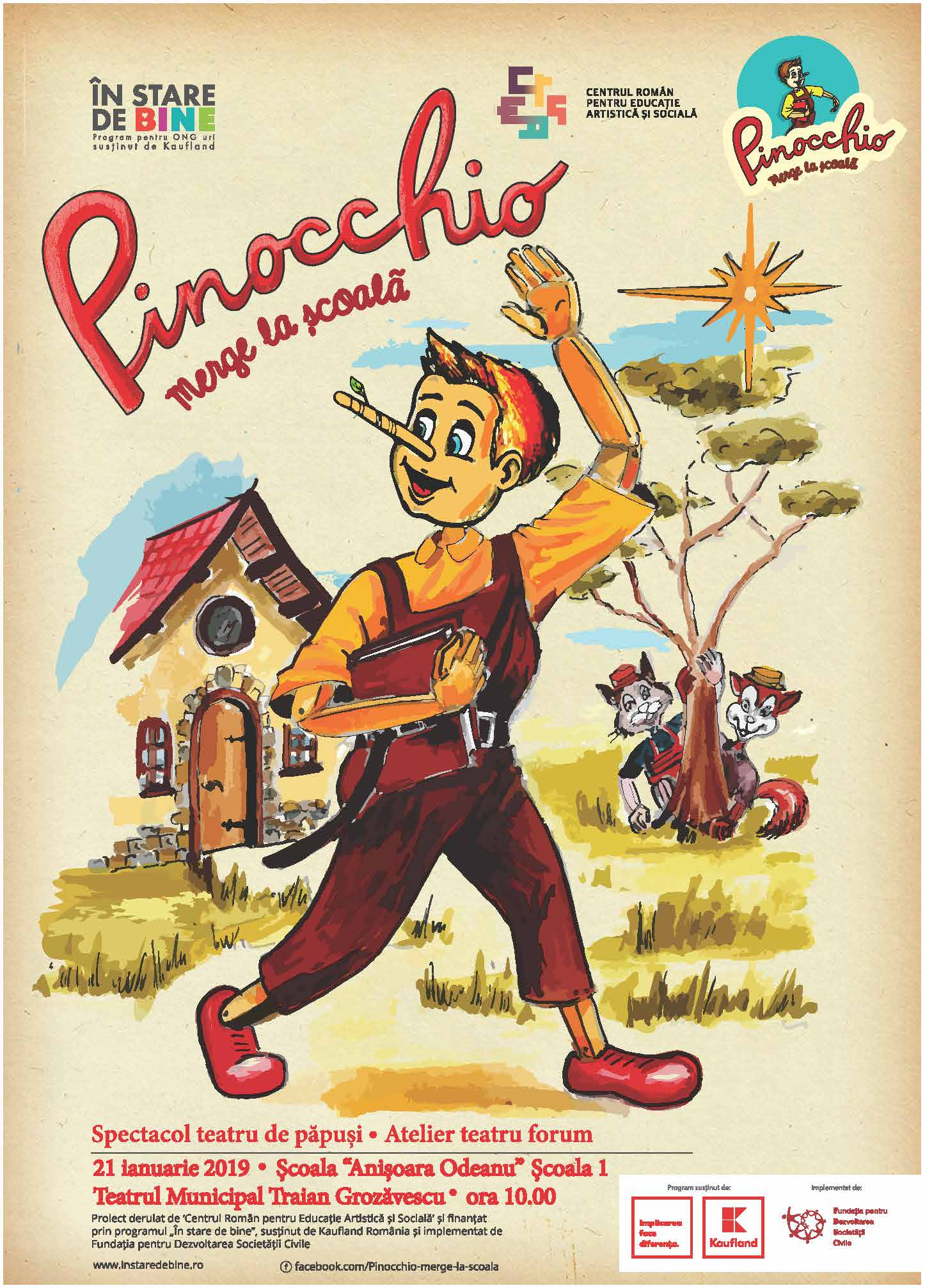 Pinocchio merge la scoala!