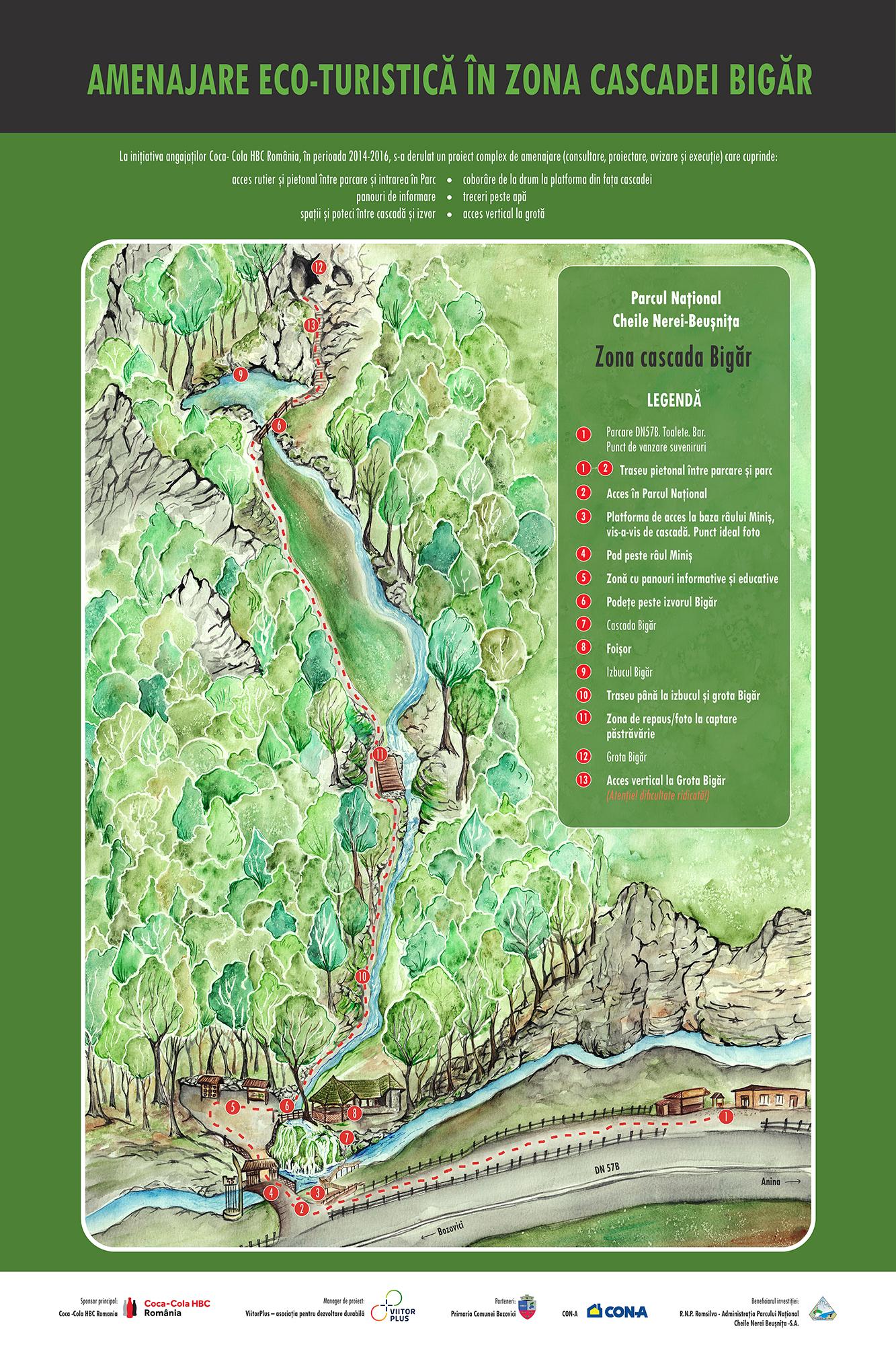 Amenajare eco-turistica la cascada Bigar