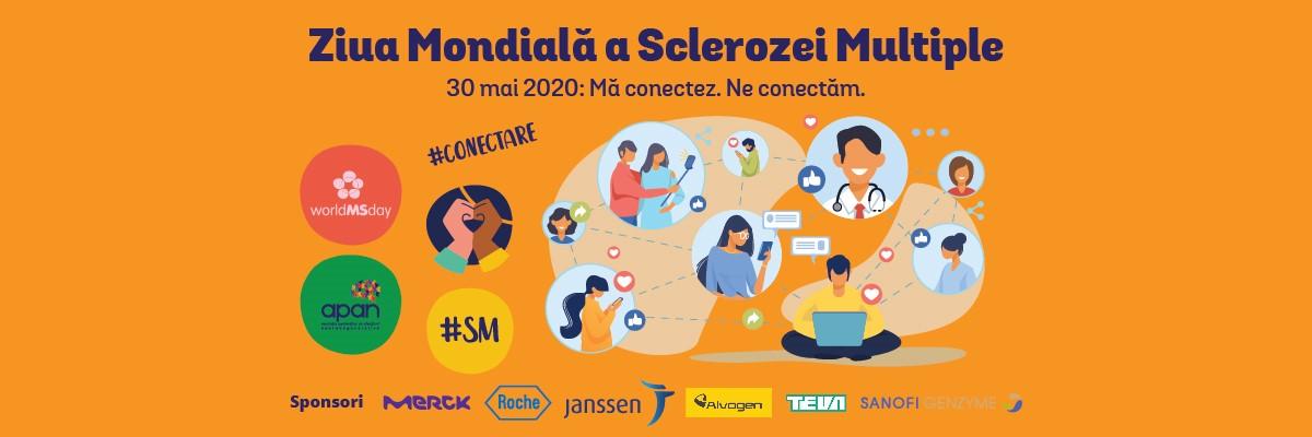 Ziua Mondiala a Sclerozei Multiple 2020 - #Conectare. Ma conectez. Ne conectăm